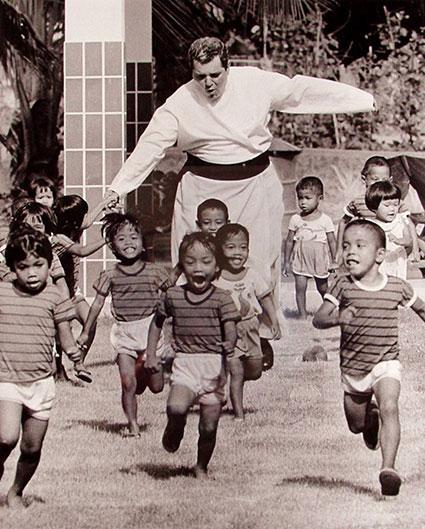 Børnehjemmet i Pattaya i midten af 1970erne.